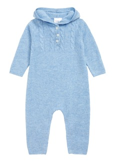 Nordstrom Signature Cashmere Hooded Romper (Baby Boys)