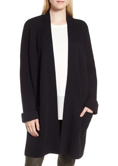 Nordstrom Signature Cashmere Ribbed Open Cardigan