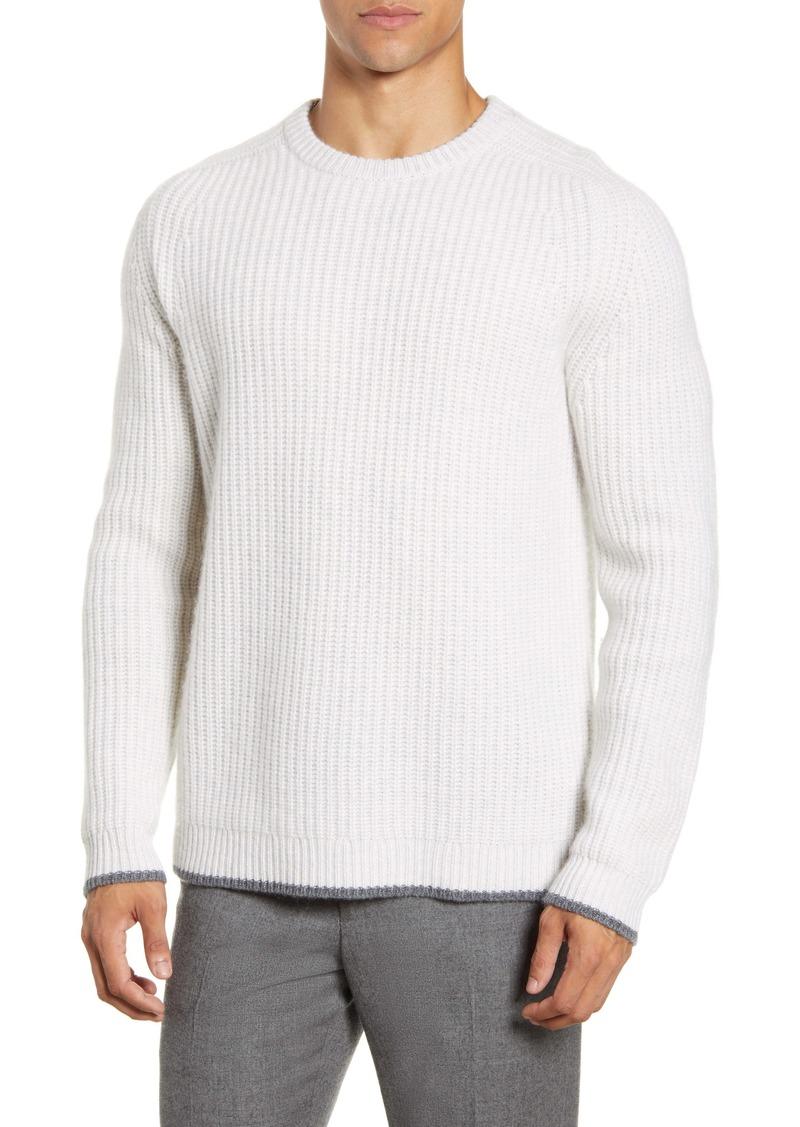 Nordstrom Signature Cashmere Shaker Stitch Crewneck Sweater