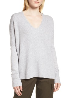 Nordstrom Signature Cashmere Soft Ribbed Pullover Sweater