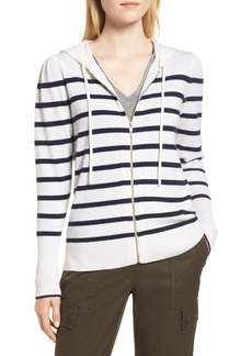 Nordstrom Signature Cashmere Stripe Hoodie