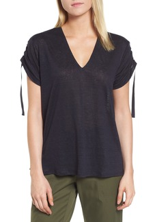 Nordstrom Signature Cinched Short Sleeve Linen Tee