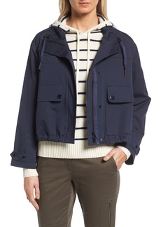 Nordstrom Signature Cotton & Silk Crop Utility Jacket