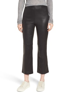 Nordstrom Signature Crop Flare Stretch Leather Pants
