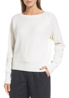 Nordstrom Signature Diagonal Ribbed Cashmere Sweater