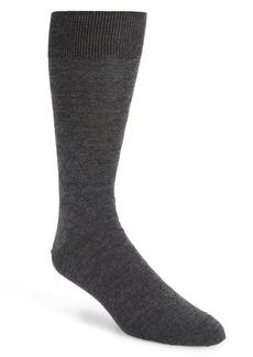 Nordstrom Signature Diamond Merino Wool Blend Dress Socks