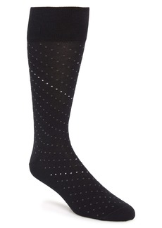 Nordstrom Signature Dot Pima Cotton Blend Dress Socks