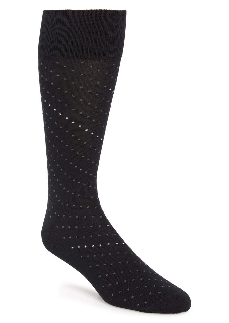 Nordstrom Signature Dot Pima Cotton Blend Dress Socks (Any 3 for $40)