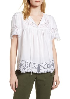Nordstrom Signature Embroidered Appliqué Top