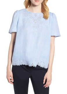 Nordstrom Signature Embroidered Eyelet Top