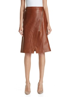 Nordstrom Signature Faux Wrap Leather Skirt
