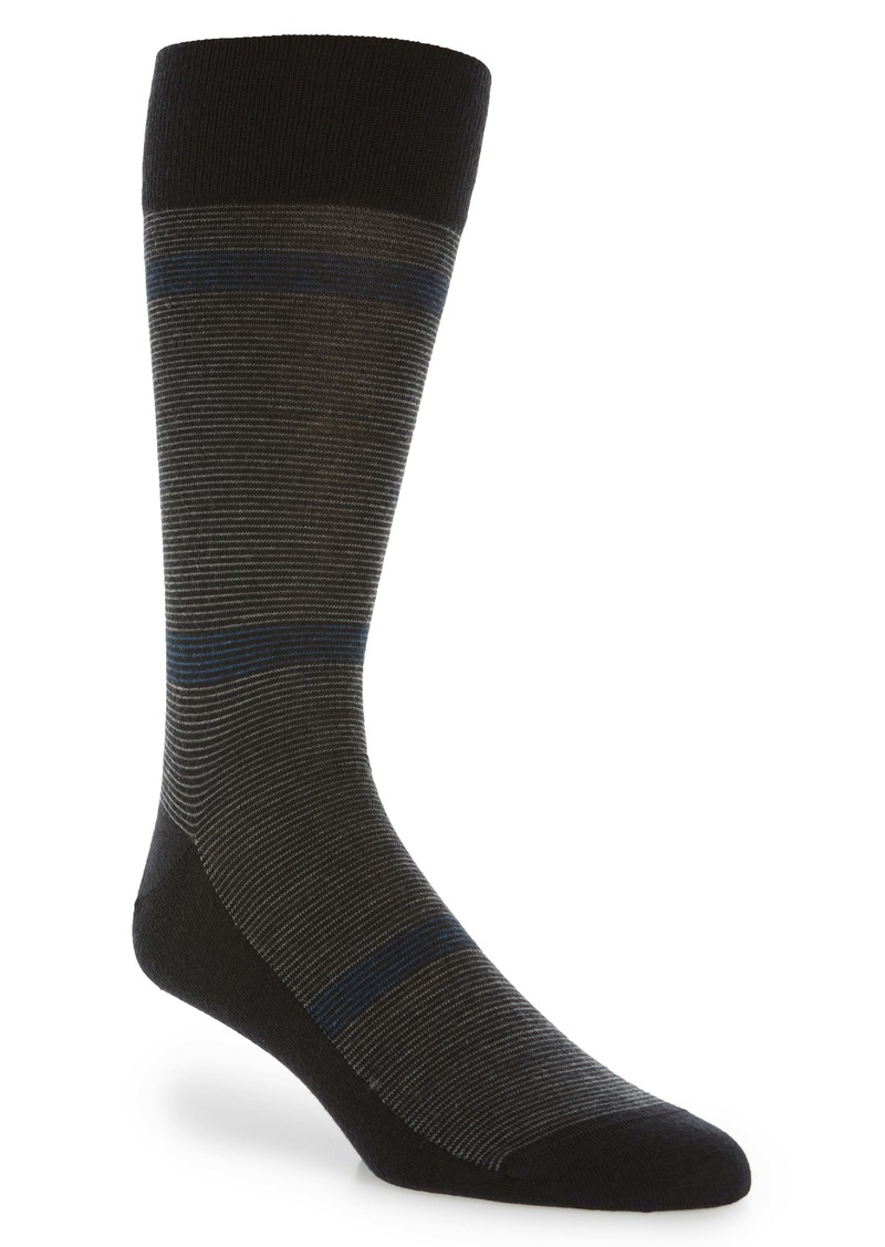 Nordstrom Signature Feeder Stripe Merino Wool Blend Dress Socks  (Any 3 for $40)