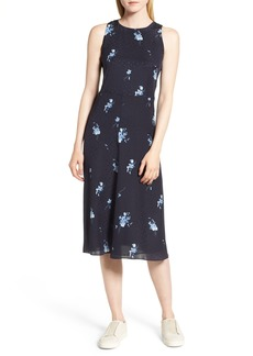 Nordstrom Signature Floral Silk Midi Dress