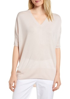 Nordstrom Signature High/Low Silk & Cashmere Sweater