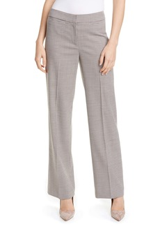 Nordstrom Signature Houndstooth Check Wide Leg Trousers