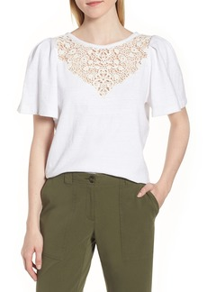 Nordstrom Signature Lace Yoke Top