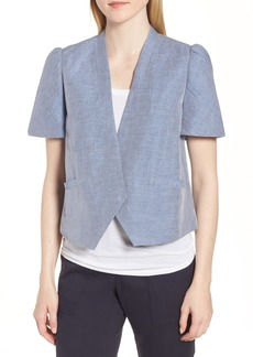 Nordstrom Signature Linen Cotton Puff Sleeve Jacket