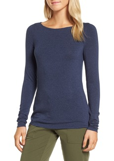 Nordstrom Signature Long Sleeve Bateau Neck Tee