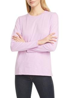 Nordstrom Signature Long Sleeve Cotton Blend Crewneck Top