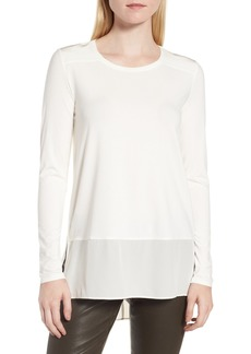 Nordstrom Signature Mix Media High/Low Tee