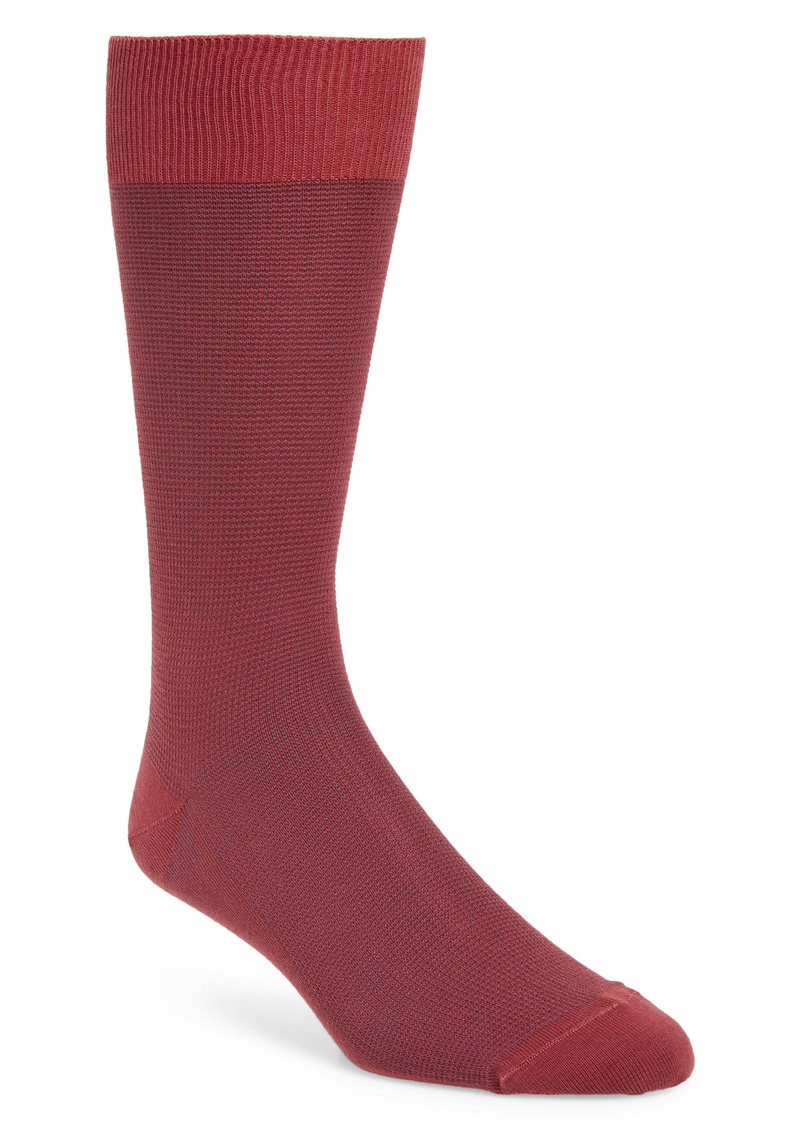Nordstrom Signature Pima Textured Socks