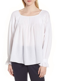 Nordstrom Signature Pintuck Cotton Blouse