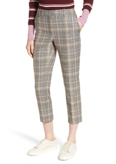 Nordstrom Signature Plaid Slim Leg Crop Pants