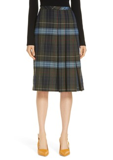Nordstrom Signature Pleat Front Plaid Skirt