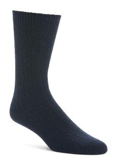 Nordstrom Signature Ribbed Cashmere Blend Socks