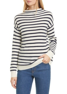 Nordstrom Signature Ribbed Funnel Neck Cashmere Sweater