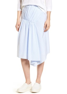 Nordstrom Signature Ruched Asymmetrical Cotton Skirt