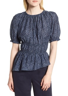 Nordstrom Signature Ruched Waist Floral Top