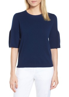 Nordstrom Signature Ruffled Sleeve Cashmere Sweater