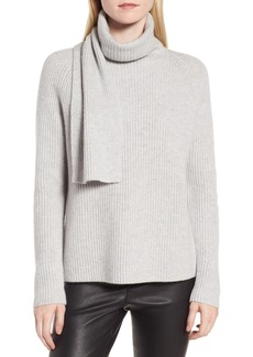 Nordstrom Signature Scarf Neck Cashmere Sweater