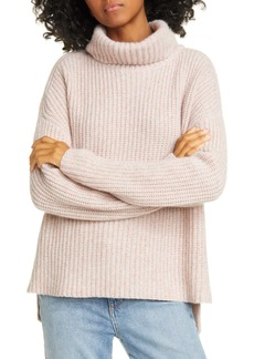 Nordstrom Signature Shaker Stitch Roll Neck Cashmere Sweater