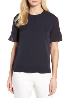 Nordstrom Signature Short Sleeve Silk Blouse