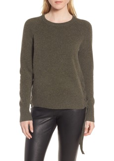 Nordstrom Signature Side Tie Cashmere Pullover