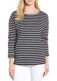Nordstrom Signature Side Zip Stripe Sweatshirt