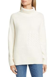 Nordstrom Signature Stitch Patchwork Cashmere Sweater