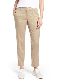 Nordstrom Signature Stretch Cotton & Linen Ankle Pants