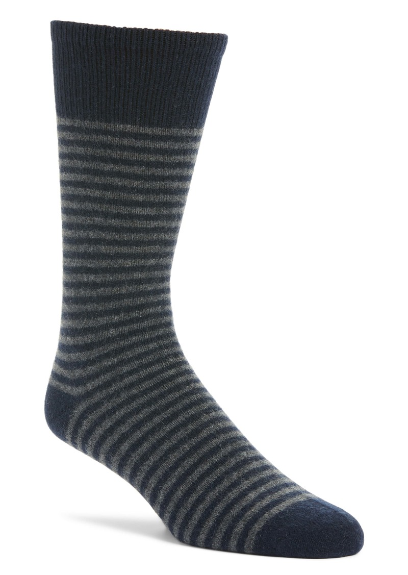 Nordstrom Signature Stripe Cashmere Blend Socks