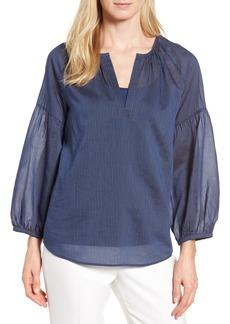 Nordstrom Signature Stripe Cotton & Silk Top