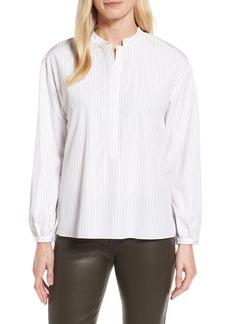 Nordstrom Signature Stripe High/Low Shirt