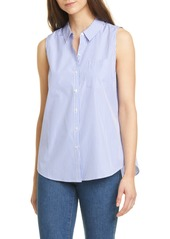 Nordstrom Signature Stripe Sleeveless Poplin Shirt