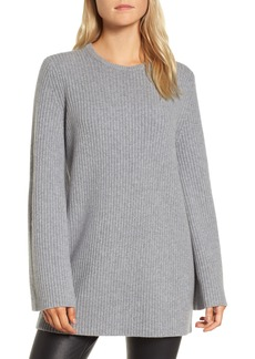 Nordstrom Signature Tie Back Cashmere Blend Sweater