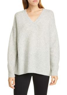 Nordstrom Signature V-Neck Cashmere & Silk Sweater