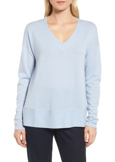 Nordstrom Signature V-Neck Cashmere Sweater