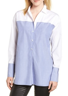 Nordstrom Signature Variegated Stripe Popover Shirt