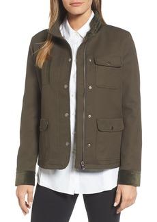 Nordstrom Signature Velvet Back Utility Jacket