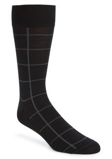 Nordstrom Signature Windowpane Merino Wool Blend Dress Socks